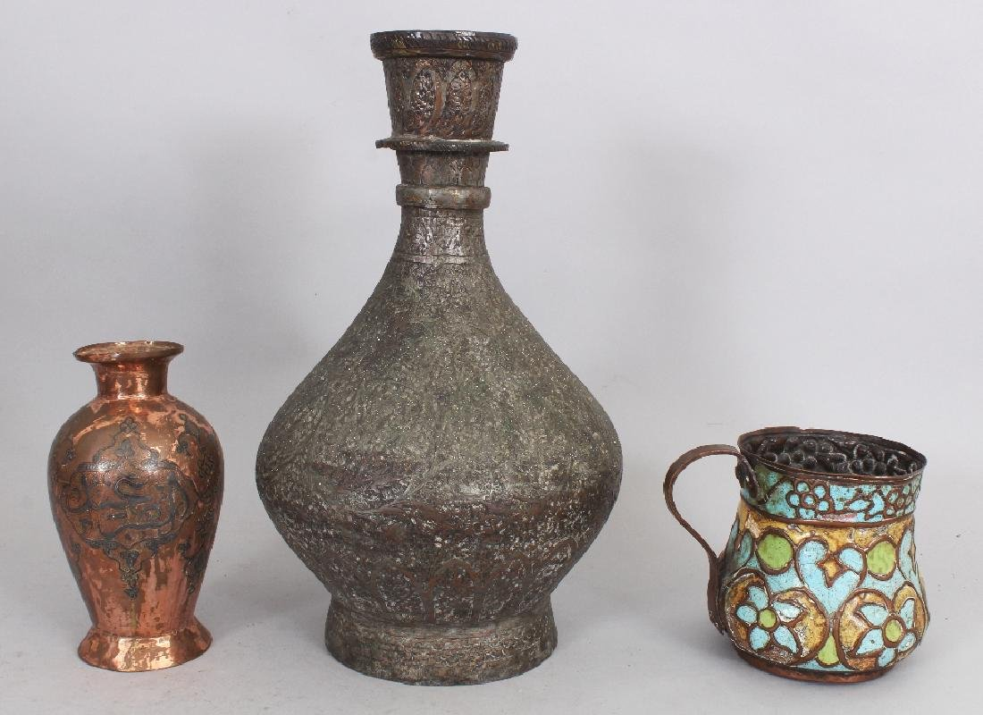 Three Copper Vessels, 19th century, comprising a large - 2