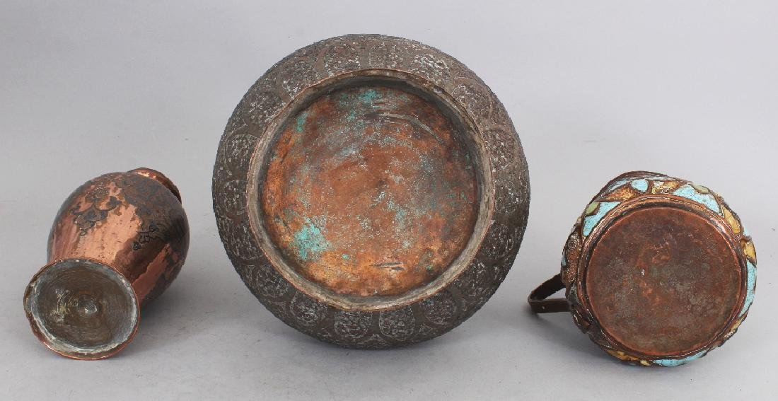 Three Copper Vessels, 19th century, comprising a large - 3
