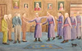 Early 20th Century English School. Robed Figures