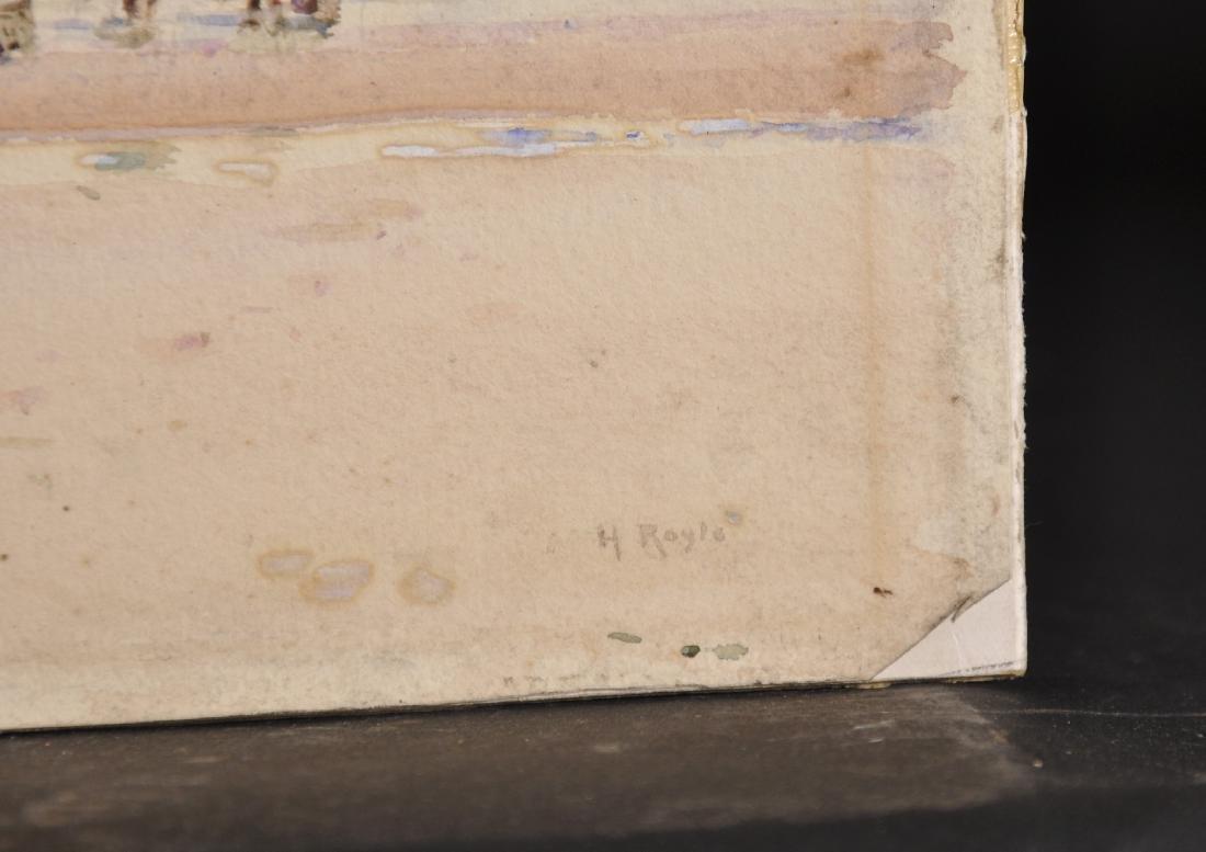 Herbert F. Royle (1870-1958) British. A Beach Scene - 3