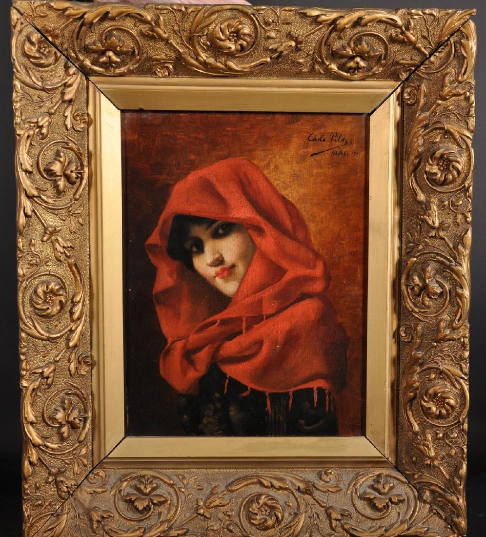 "Carlo Pila (19th - 20th Century) Italian. ""Portrait de - 2"