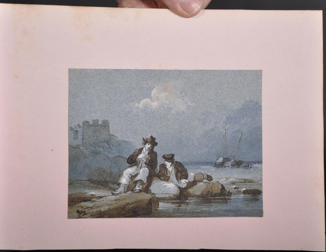 Early 19th Century English School. Two Fishermen Seated - 2