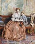 George Goodwin Kilburne (1839-1924) British. A Mother