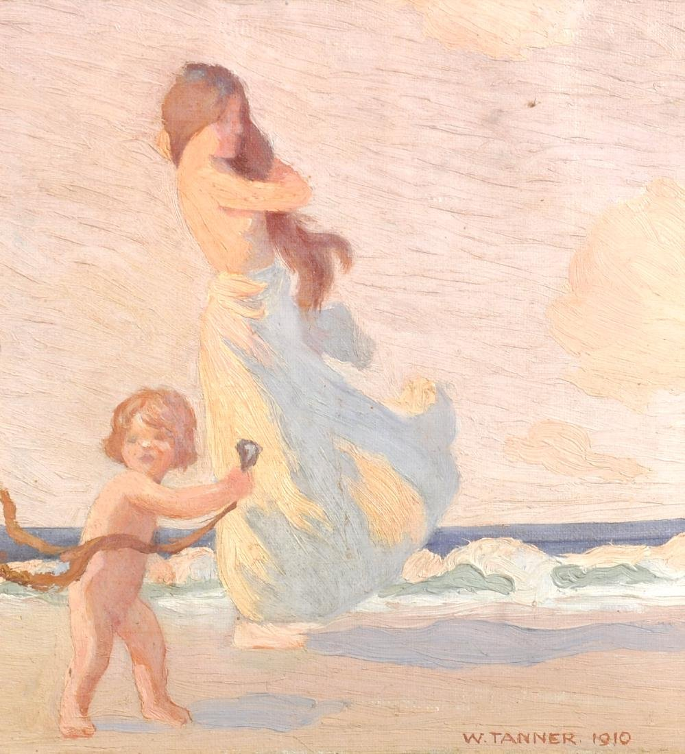 W...Tanner (19th- 20th Century) British. Woman and