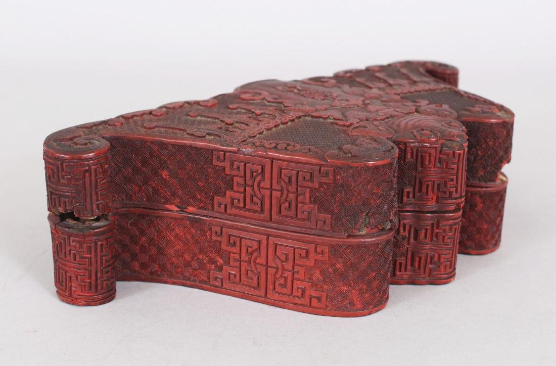 A GOOD QUALITY EARLY/MID 19TH CENTURY CHINESE CINNABAR - 2