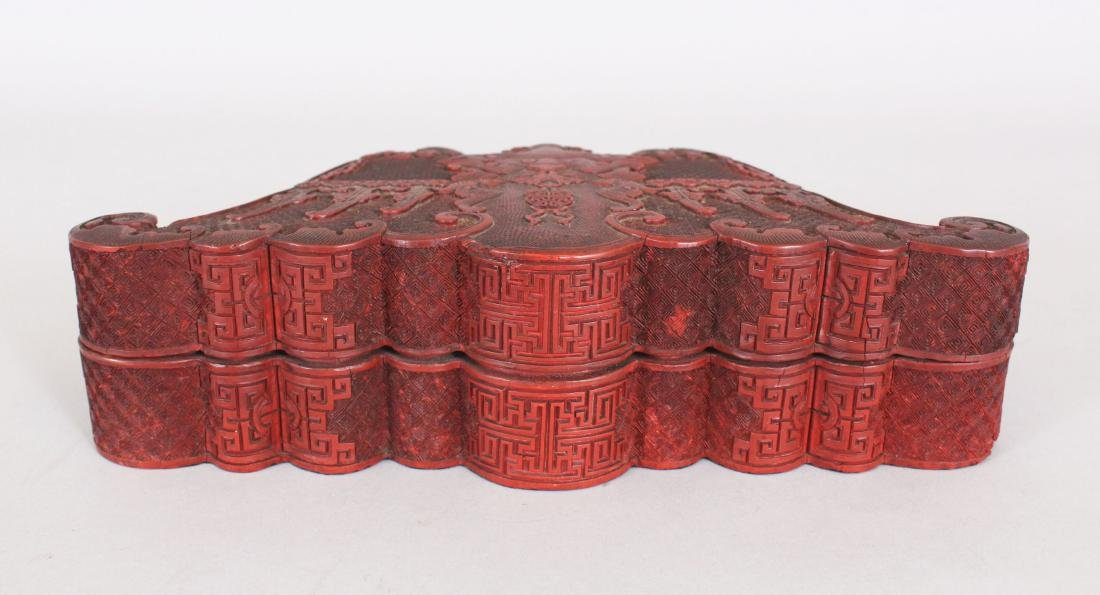 A GOOD QUALITY EARLY/MID 19TH CENTURY CHINESE CINNABAR - 3