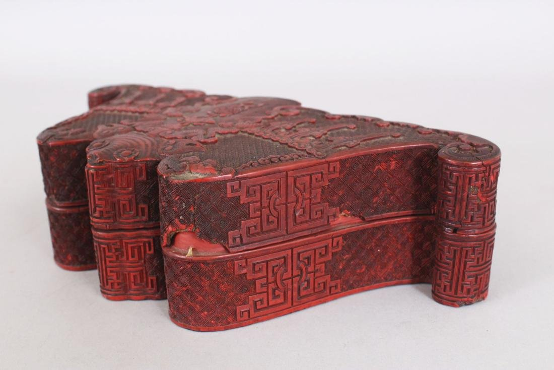 A GOOD QUALITY EARLY/MID 19TH CENTURY CHINESE CINNABAR - 4