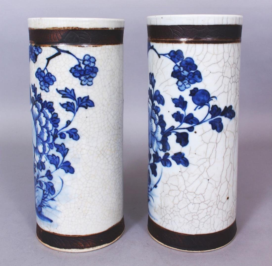 A PAIR OF 19TH/20TH CENTURY CHINESE BLUE & WHITE - 4