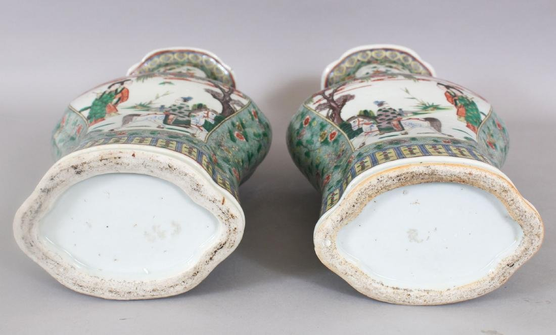 A LARGE PAIR OF 19TH CENTURY CHINESE FAMILLE VERTE - 7