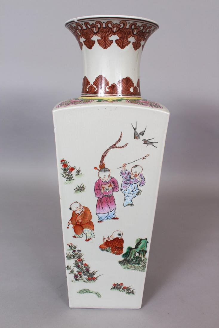 A CHINESE FAMILLE ROSE PORCELAIN VASE, the sides - 2