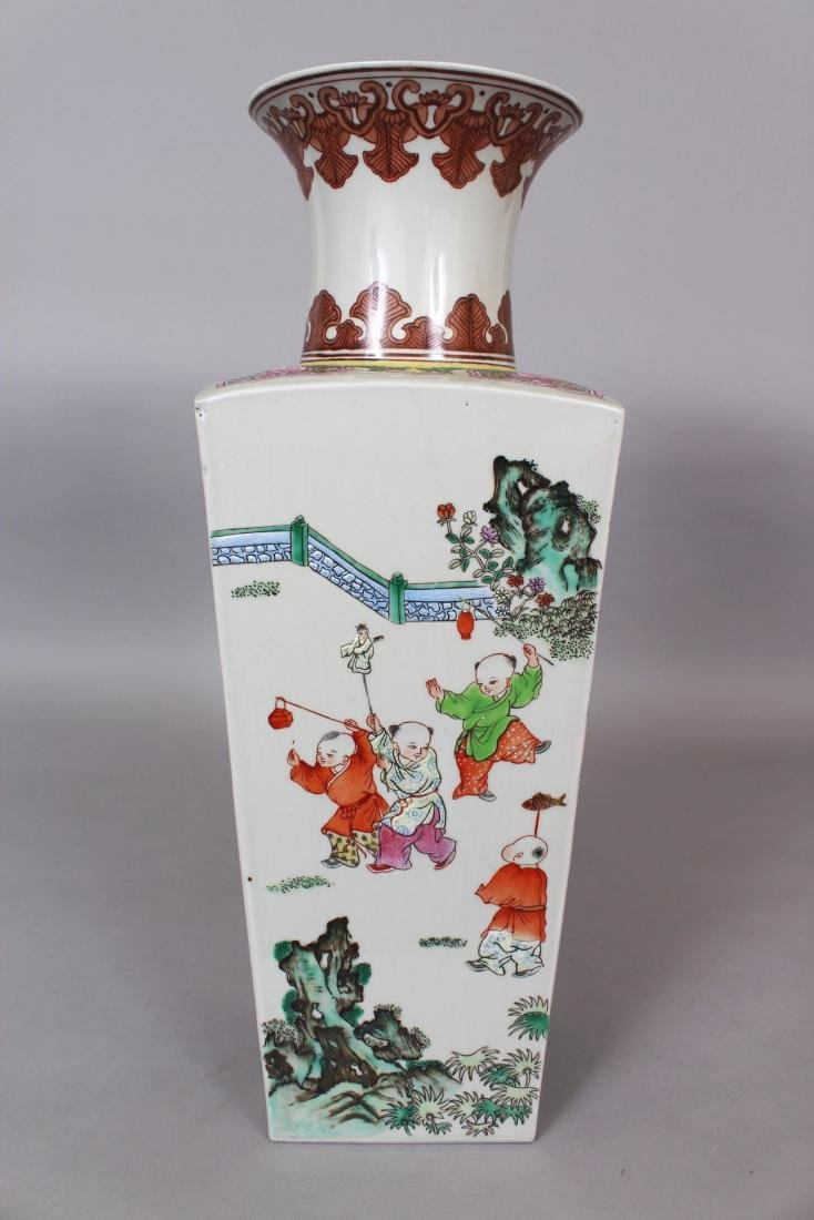 A CHINESE FAMILLE ROSE PORCELAIN VASE, the sides - 4