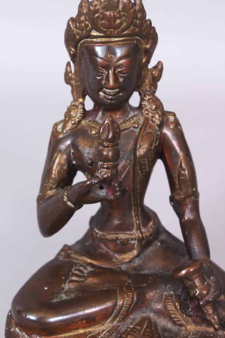 A SINO-TIBETAN BRONZE FIGURE OF BUDDHA, seated in - 5