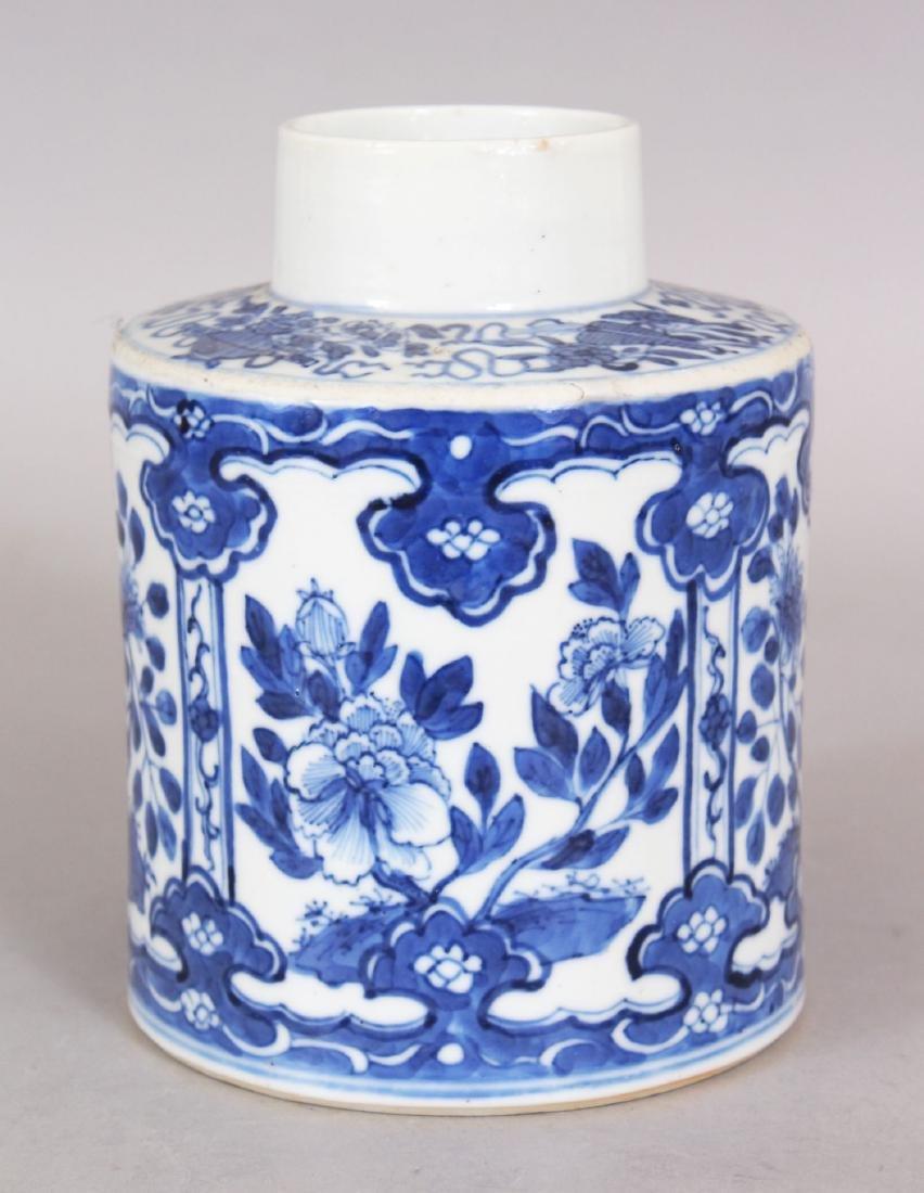 A 19TH CENTURY CHINESE BLUE & WHITE PORCELAIN TEA