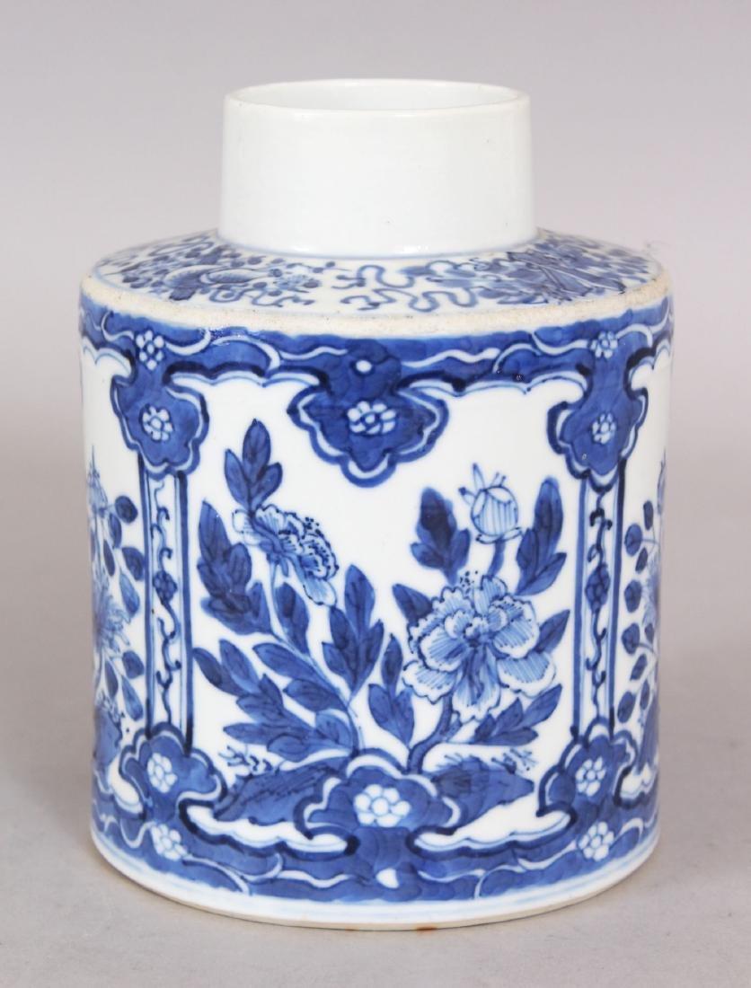 A 19TH CENTURY CHINESE BLUE & WHITE PORCELAIN TEA - 3