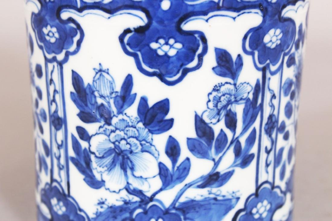 A 19TH CENTURY CHINESE BLUE & WHITE PORCELAIN TEA - 5