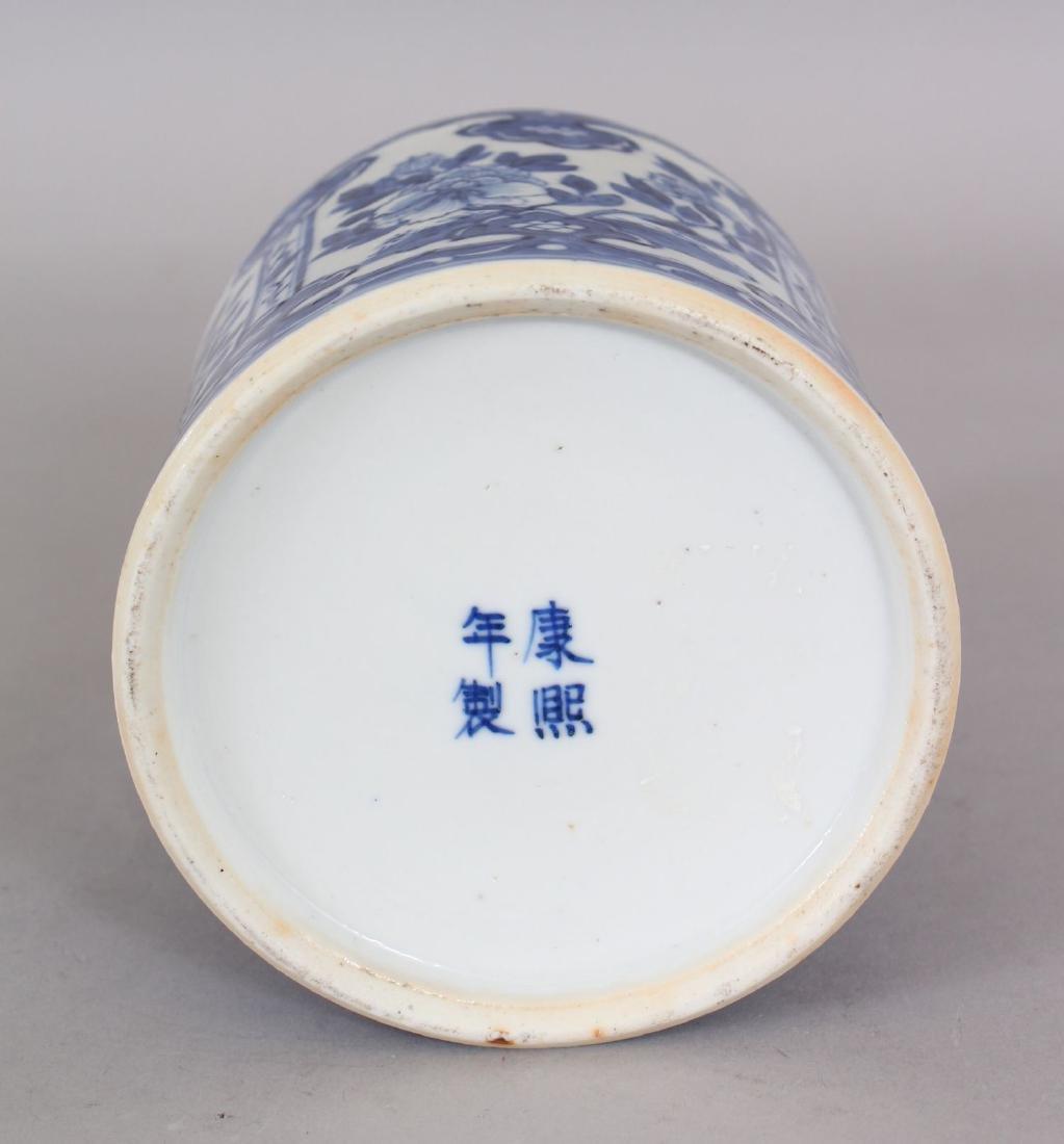 A 19TH CENTURY CHINESE BLUE & WHITE PORCELAIN TEA - 7