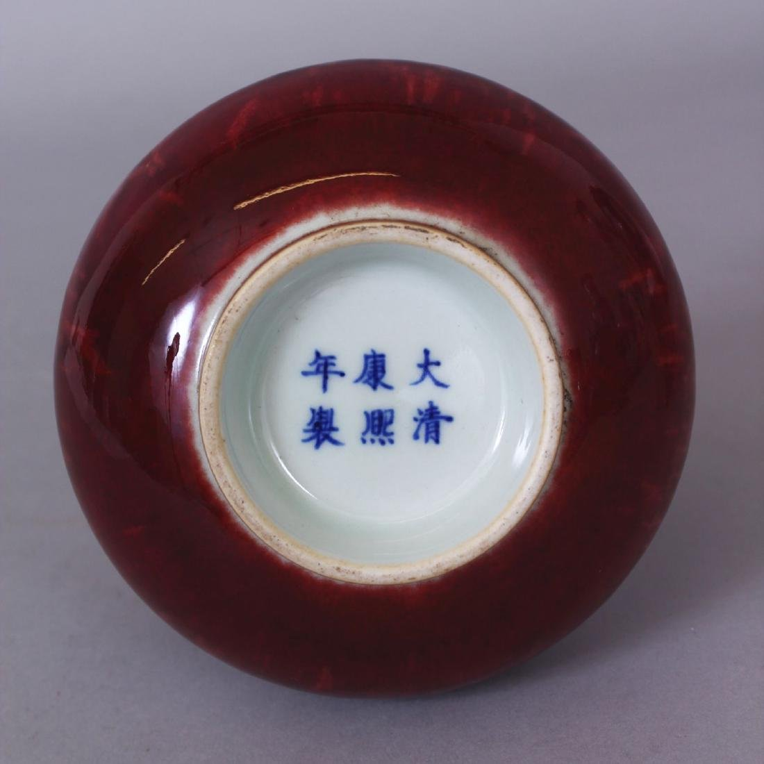A CHINESE PEACH BLOOM GLAZED PORCELAIN BOTTLE VASE, the - 6