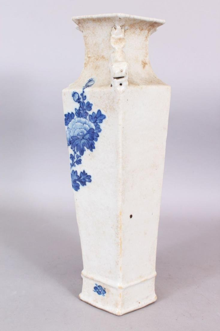 A LATE 19TH CENTURY CHINESE BLUE & WHITE CRACKLEGLAZE - 4