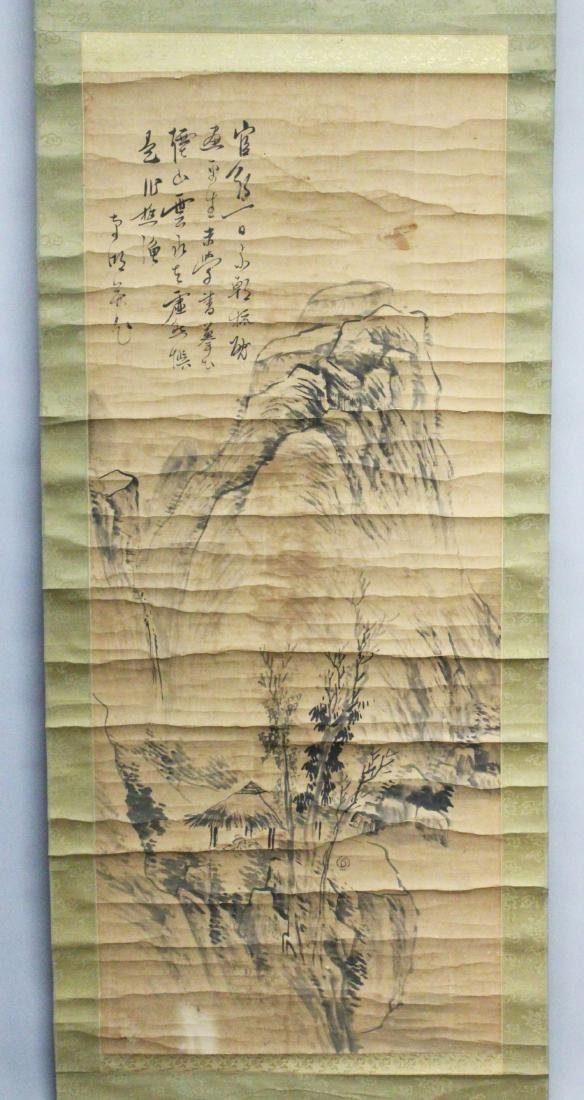 A CHINESE HANGING SCROLL PAINTING ON PAPER, 19th