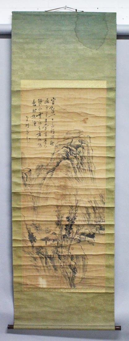 A CHINESE HANGING SCROLL PAINTING ON PAPER, 19th - 2
