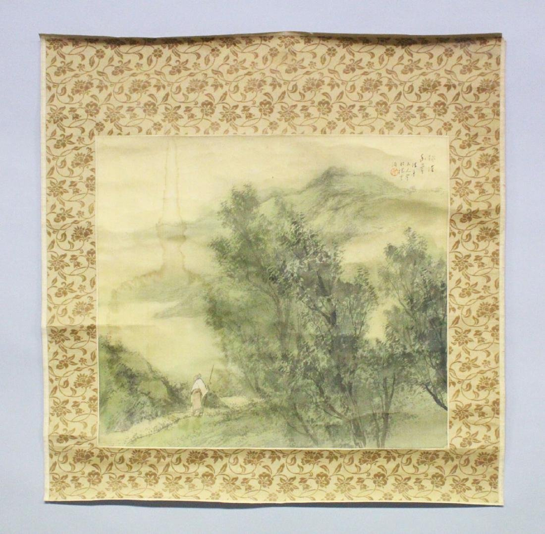 A 19TH CENTURY CHINESE SCROLL PAINTING ON SILK,
