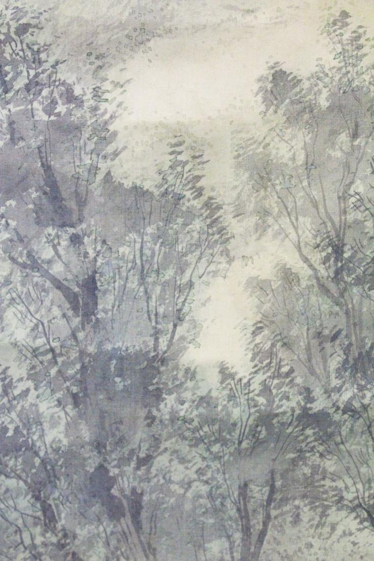 A 19TH CENTURY CHINESE SCROLL PAINTING ON SILK, - 4