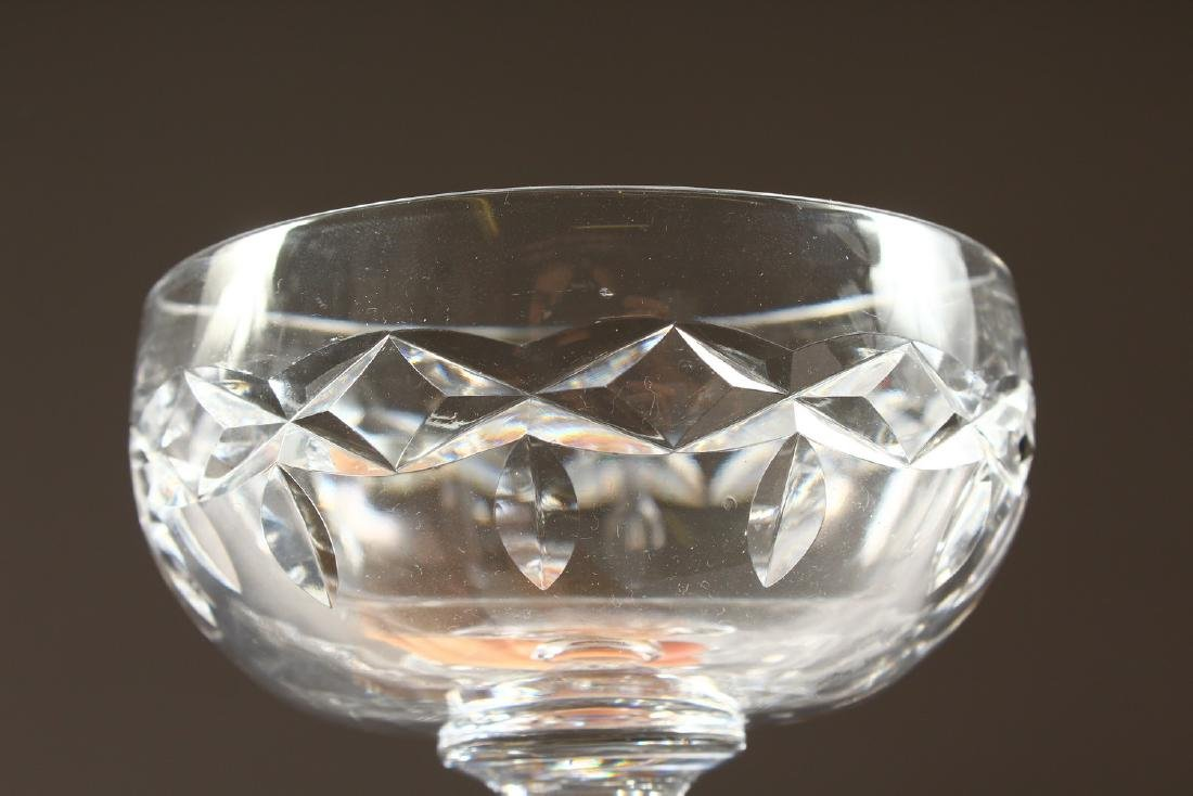 A SET OF TEN CUT GLASS CHAMPAGNE GLASSES. - 2