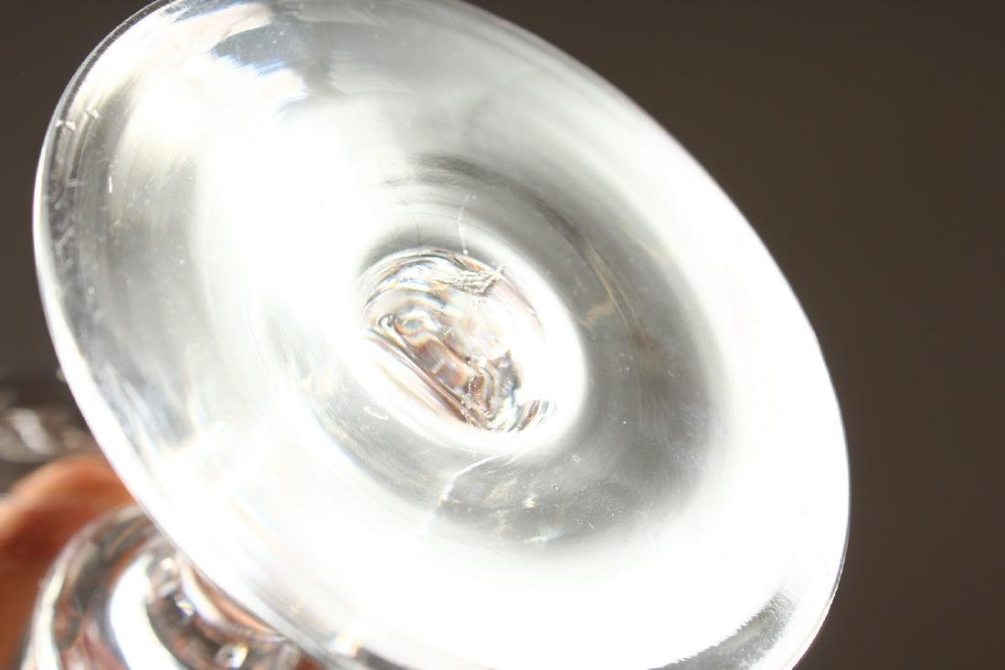 A SET OF TEN CUT GLASS CHAMPAGNE GLASSES. - 4