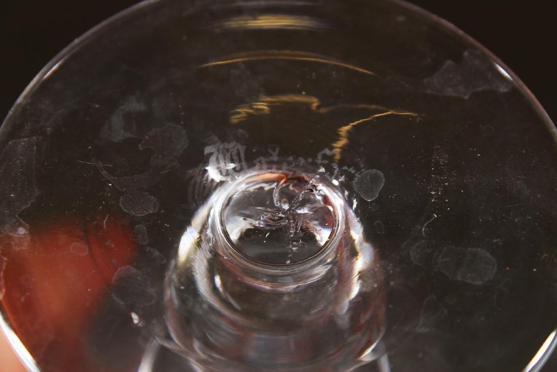 A SET OF TWELVE CUT CRYSTAL WINE GLASSES. - 4