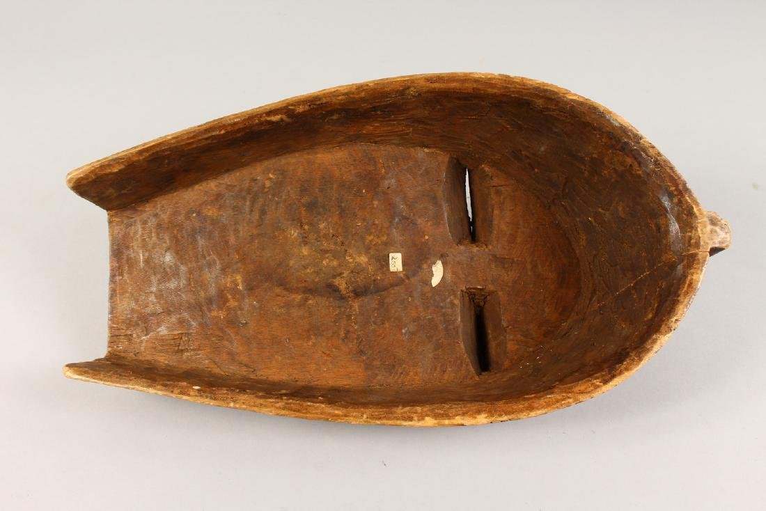 A CASED WOOD TRIBAL MASK, with incised and painted - 5