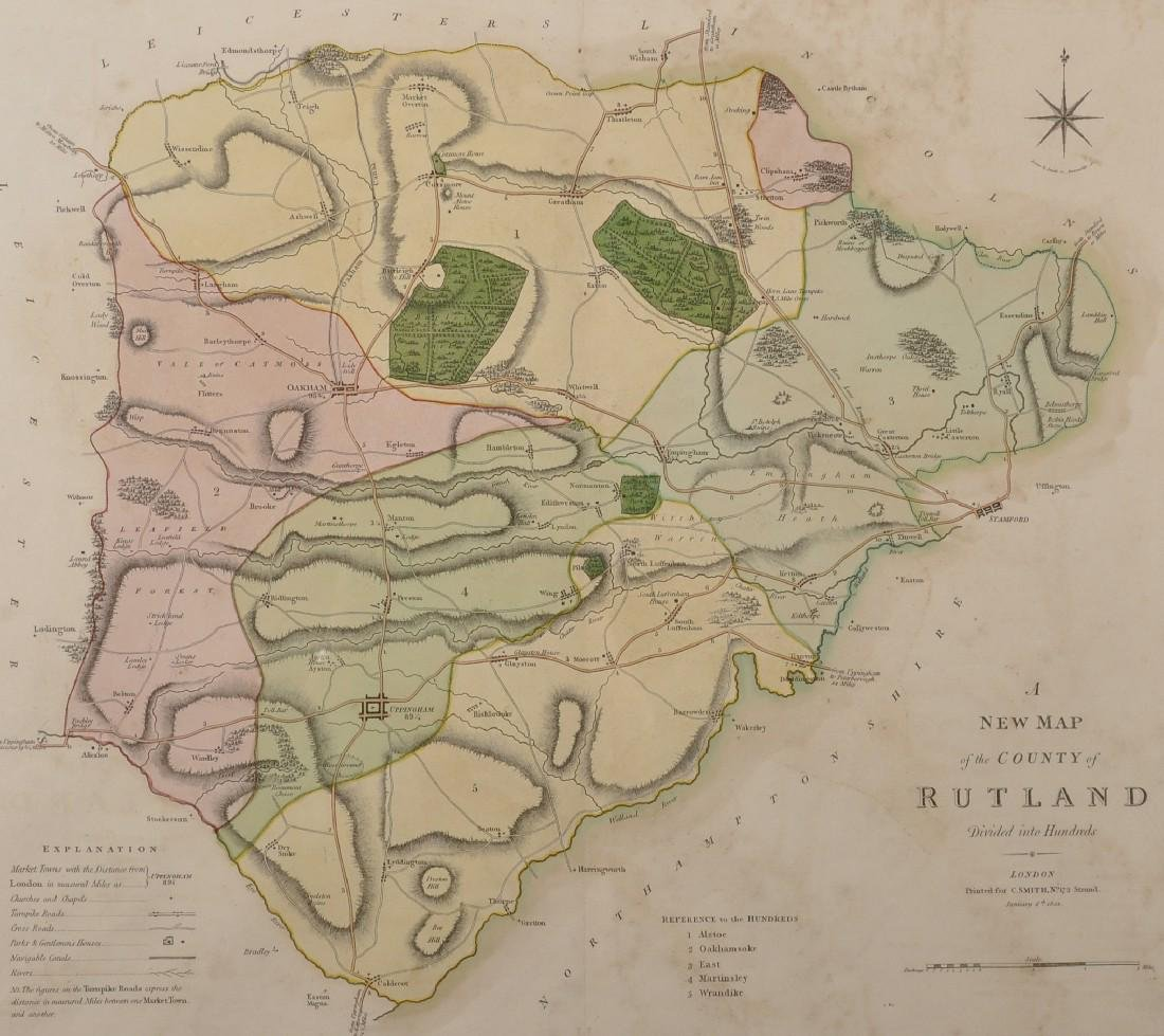 """Charles Smith (18th-19th Century) British. """"A New Map"""