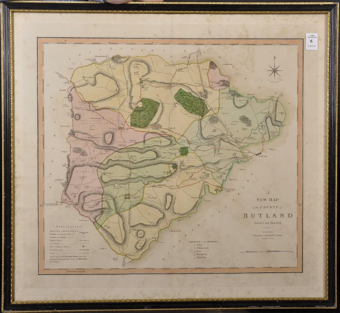 """Charles Smith (18th-19th Century) British. """"A New Map - 2"""