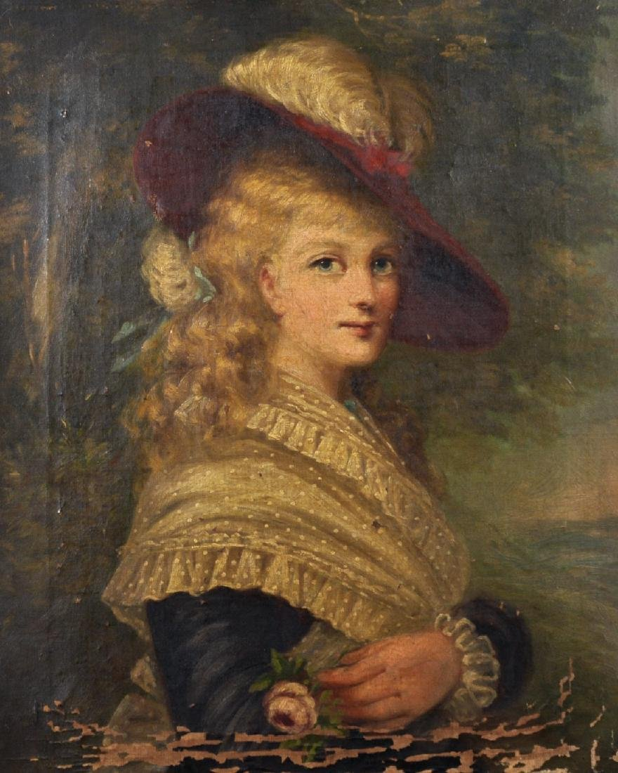 19th Century English School. Portrait of Georgina