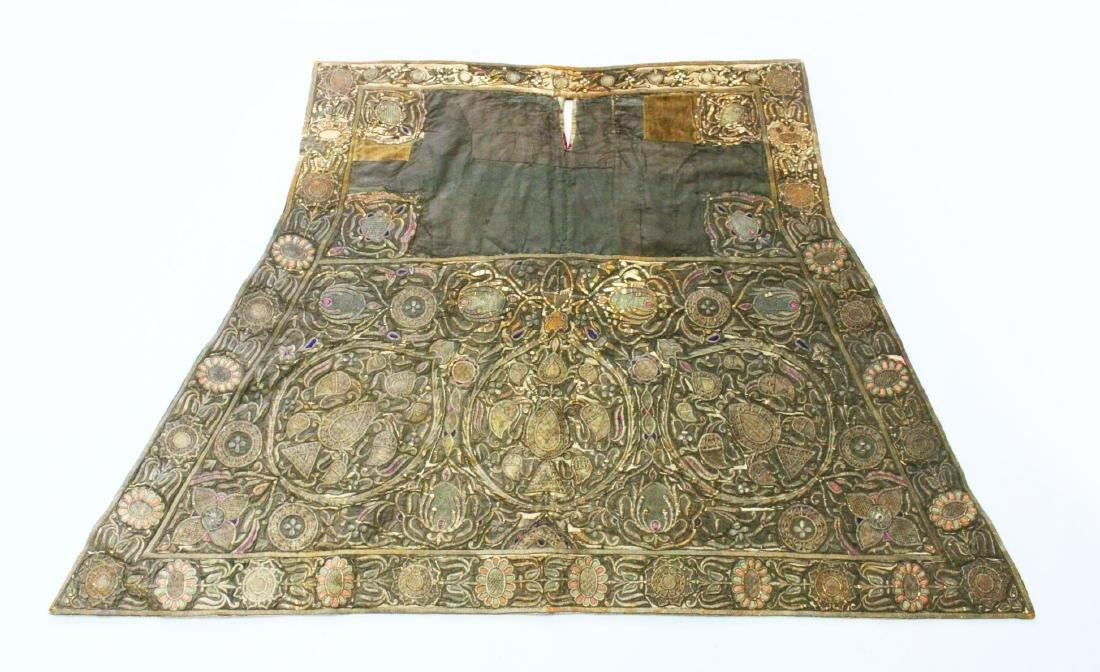AN 18TH-19TH CENTURY OTTOMAN HORSE COVER, silk,