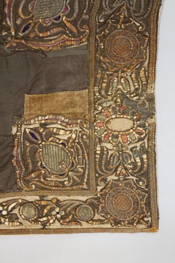 AN 18TH-19TH CENTURY OTTOMAN HORSE COVER, silk, - 5