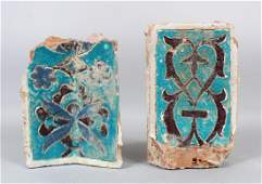 TWO 15TH CENTURY CENTRAL ASIA TIMURID GLAZED POTTERY