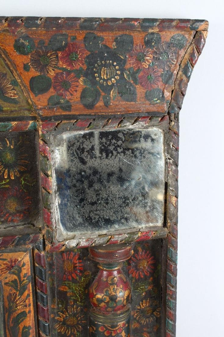 A 19TH CENTURY PERSIAN QAJAR HAND PAINTED WOODEN - 6