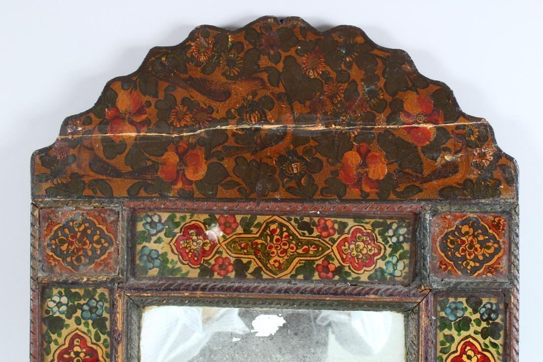 A 19TH CENTURY PERSIAN QAJAR HAND PAINTED WOODEN - 2