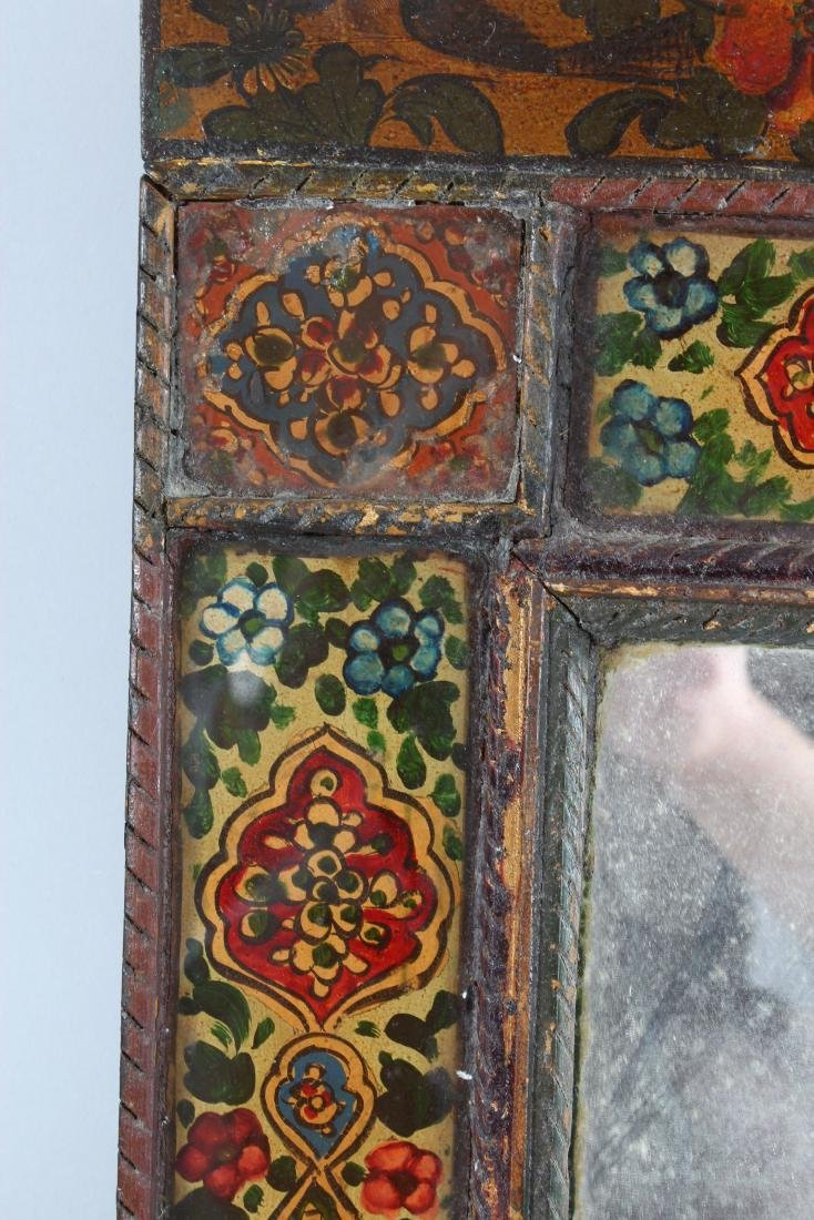 A 19TH CENTURY PERSIAN QAJAR HAND PAINTED WOODEN - 3