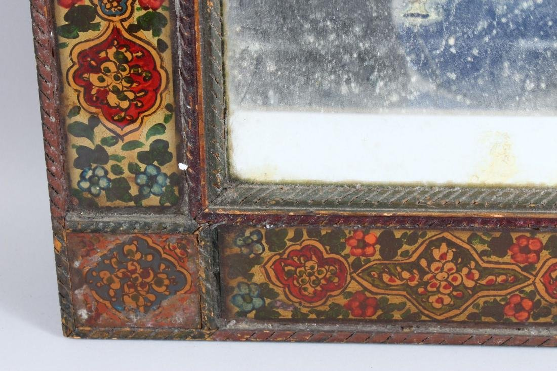 A 19TH CENTURY PERSIAN QAJAR HAND PAINTED WOODEN - 4