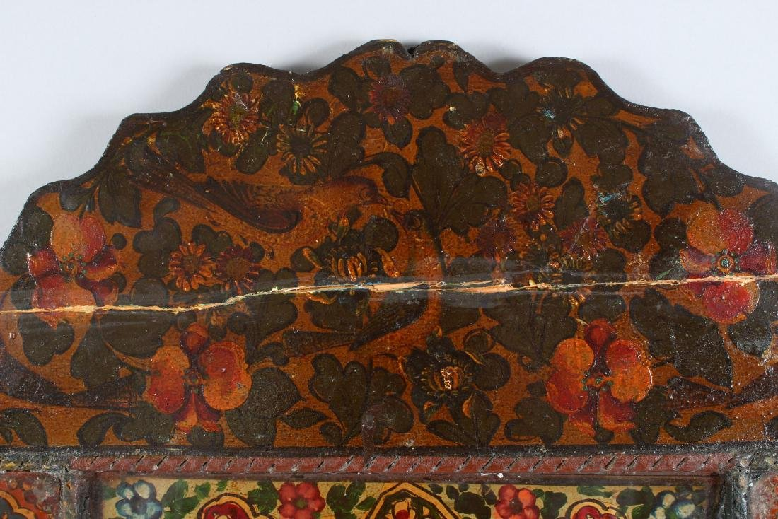 A 19TH CENTURY PERSIAN QAJAR HAND PAINTED WOODEN - 5