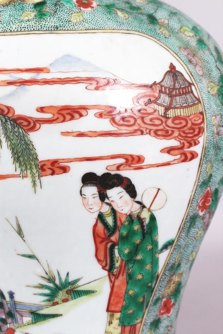 A LARGE PAIR OF 19TH CENTURY CHINESE FAMILLE VERTE - 4