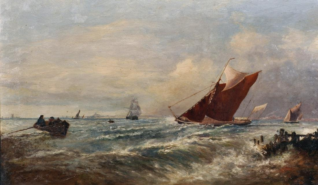19th Century English School. A Coastal Scene with
