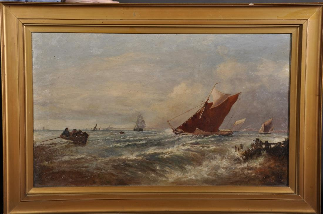 19th Century English School. A Coastal Scene with - 2