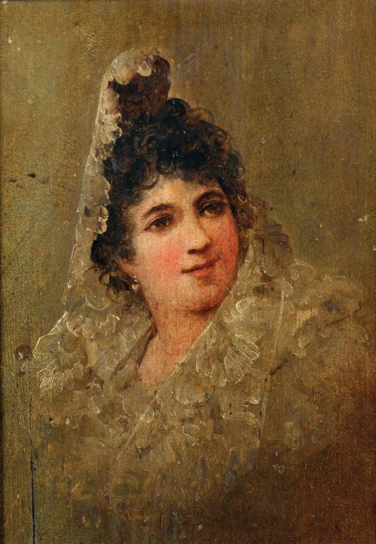 19th Century Spanish School. Portrait of a Lady wearing