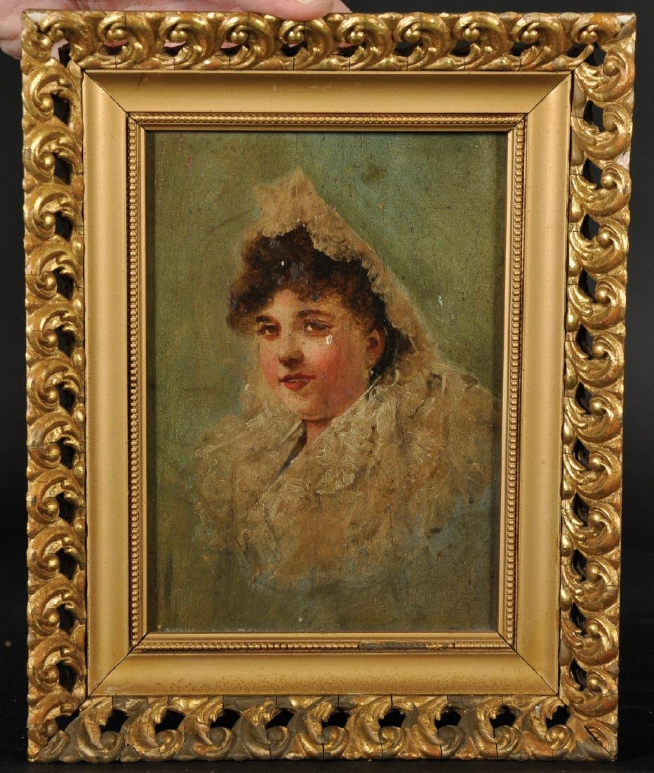 19th Century Spanish School. Portrait of a Lady wearing - 4