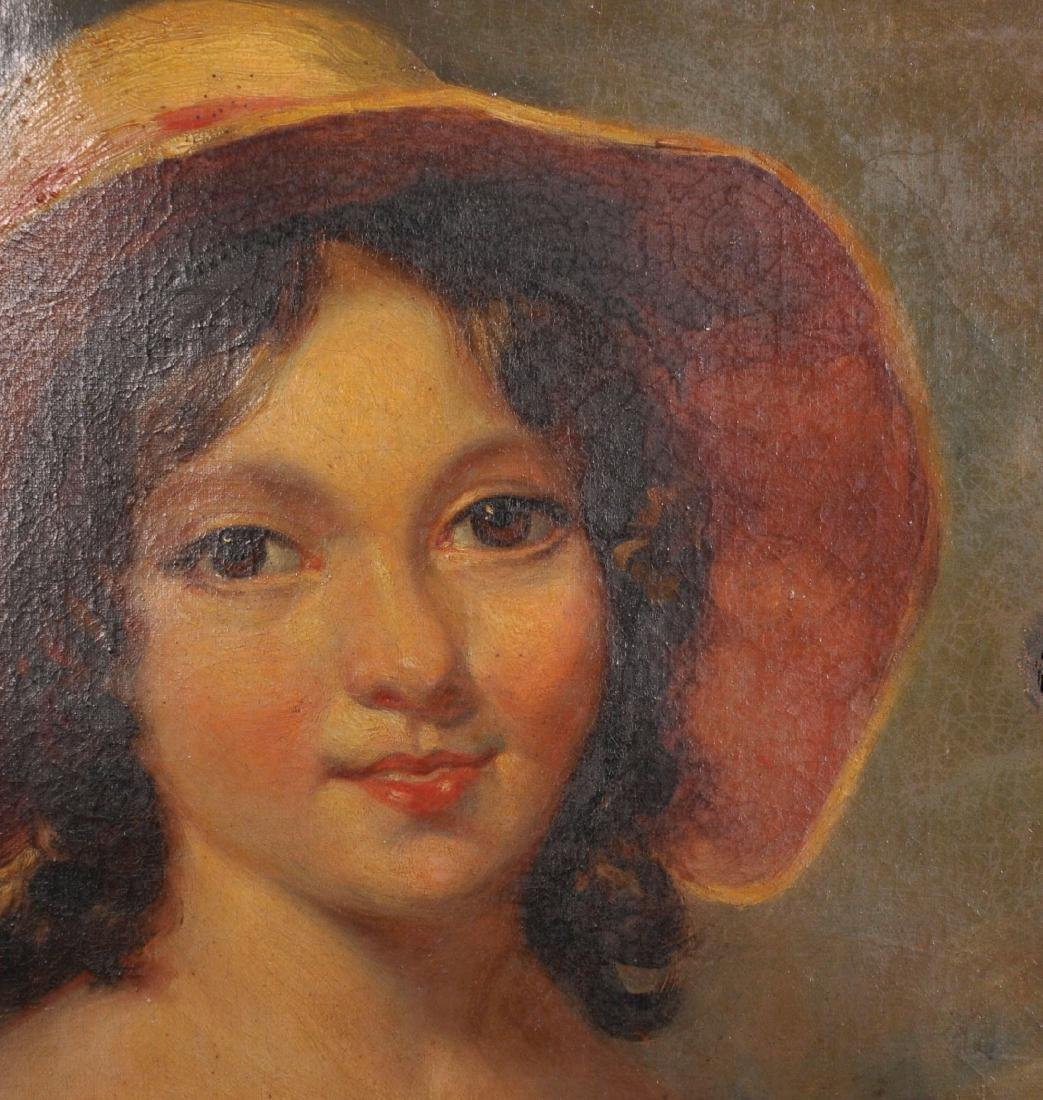 19th Century English School. Portrait of a Young Girl - 3