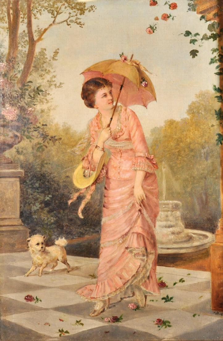 Adolphe Dechenaud (1868-1929) French. An Elegant Young