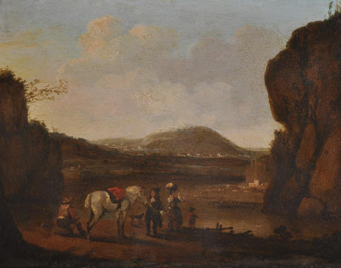 18th Century Dutch School. A Mountainous River