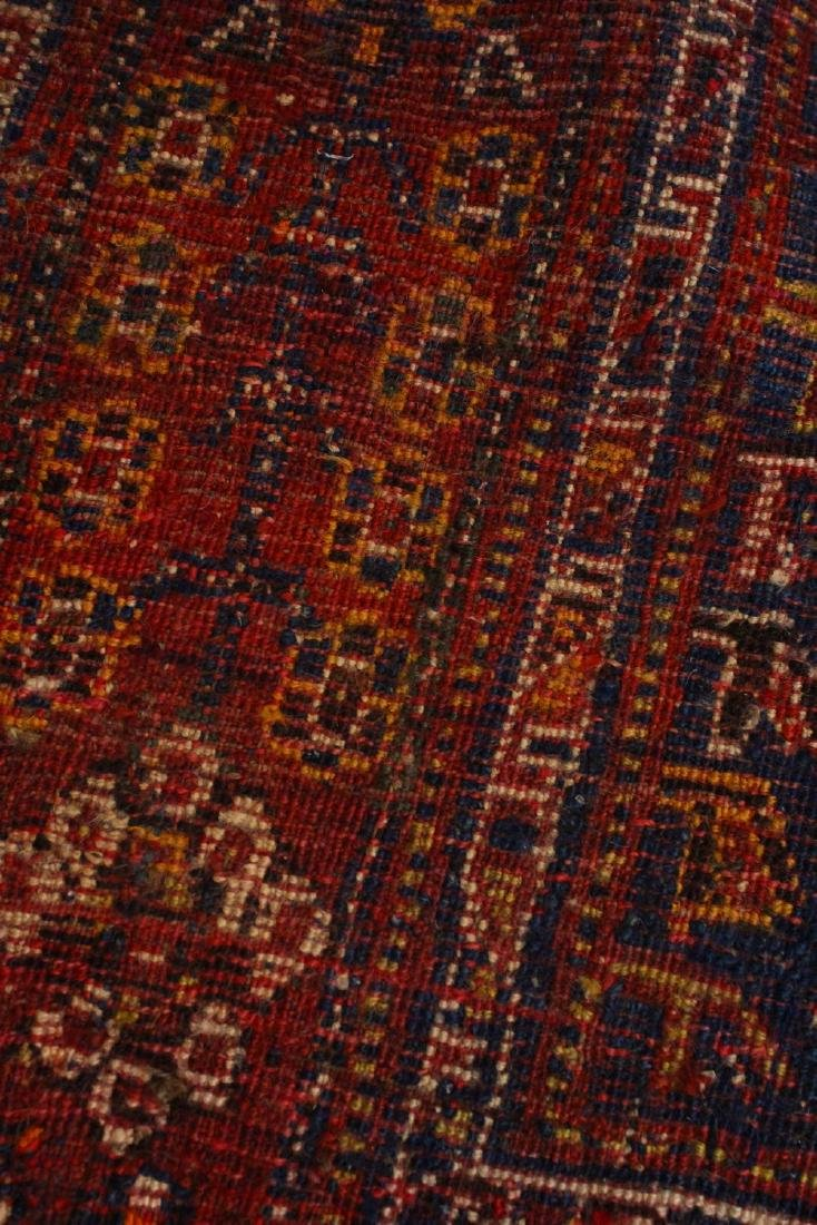 A PERSIAN CARPET, blue and red ground, decorated with - 3